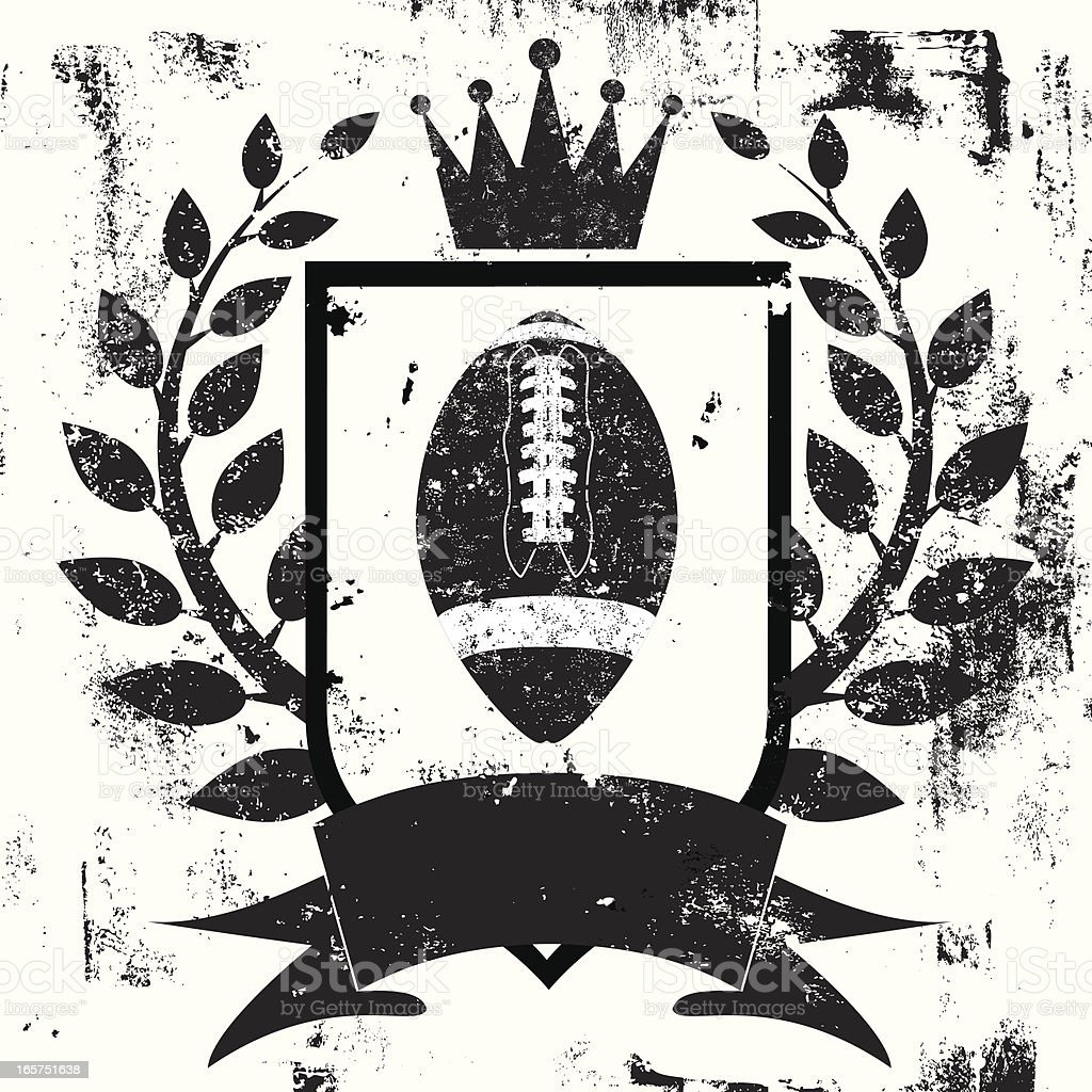 football shield insignia vector art illustration