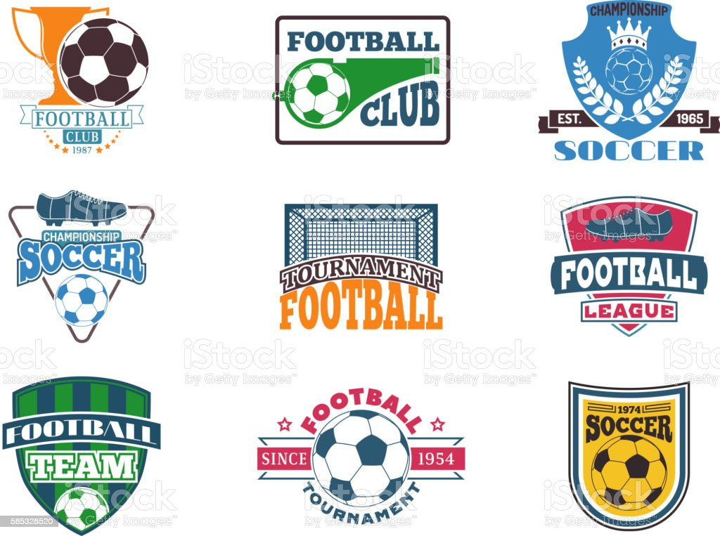 Football sign vector badge vector art illustration