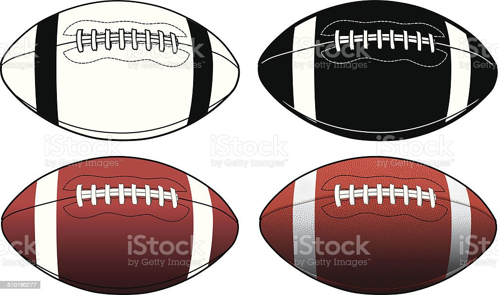 Football Simple to Complex vector art illustration