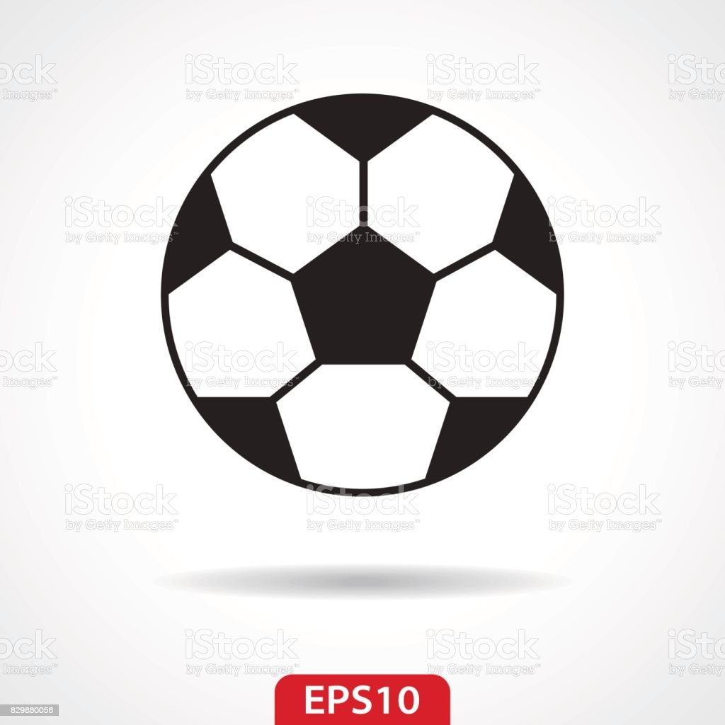 Football Soccer Ball Flat Icon - Vector Illustration vector art illustration