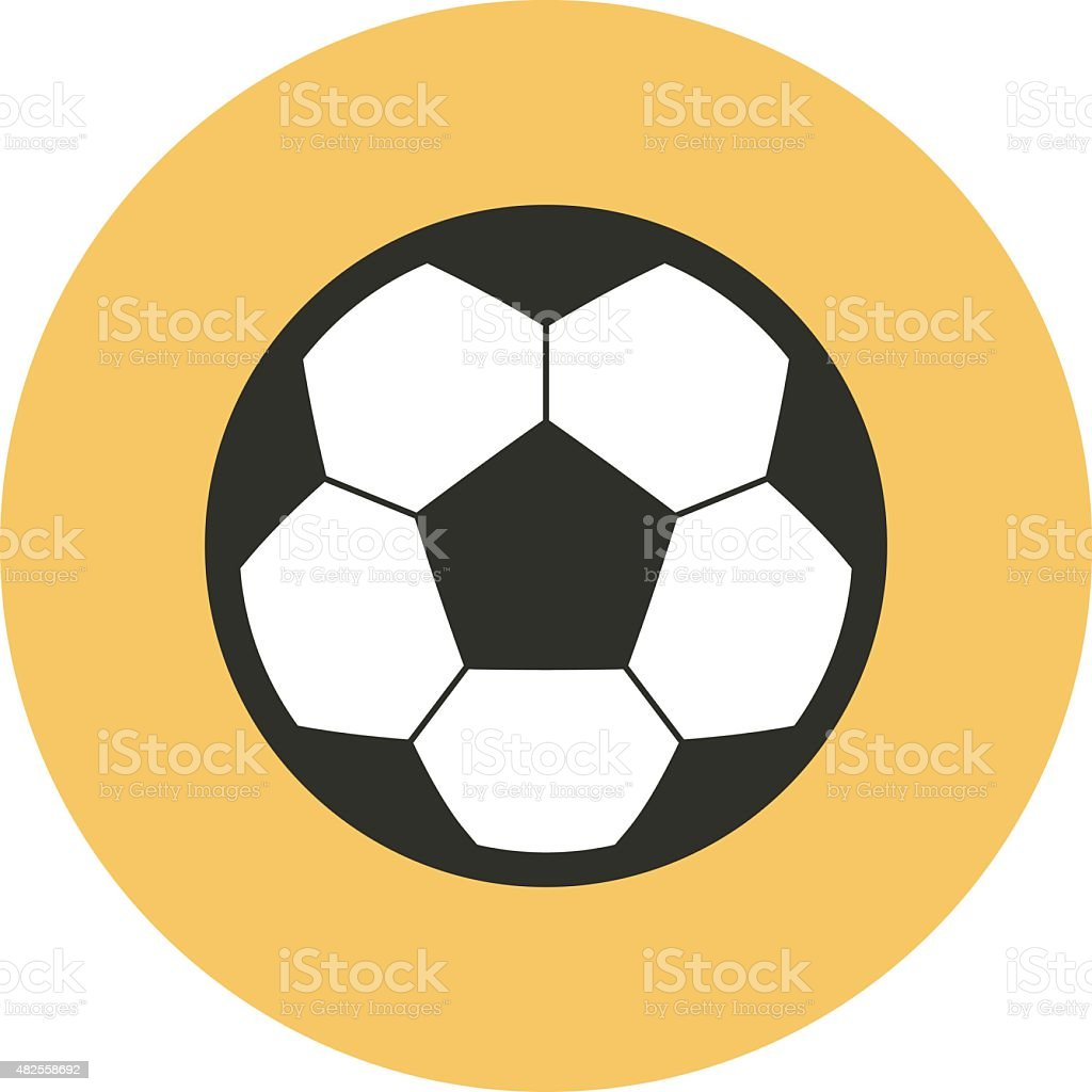 Football soccer ball icon, modern minimal flat design style vector art illustration