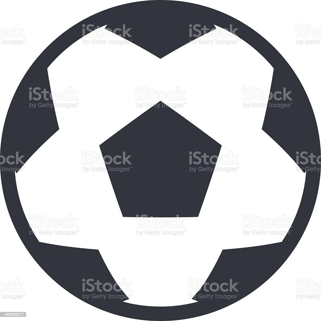 Football soccer ball outline icon, modern minimal flat design style vector art illustration