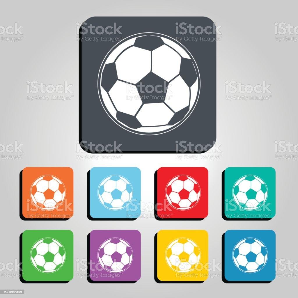 Football Soccer Ball Vector Icon Illustration vector art illustration