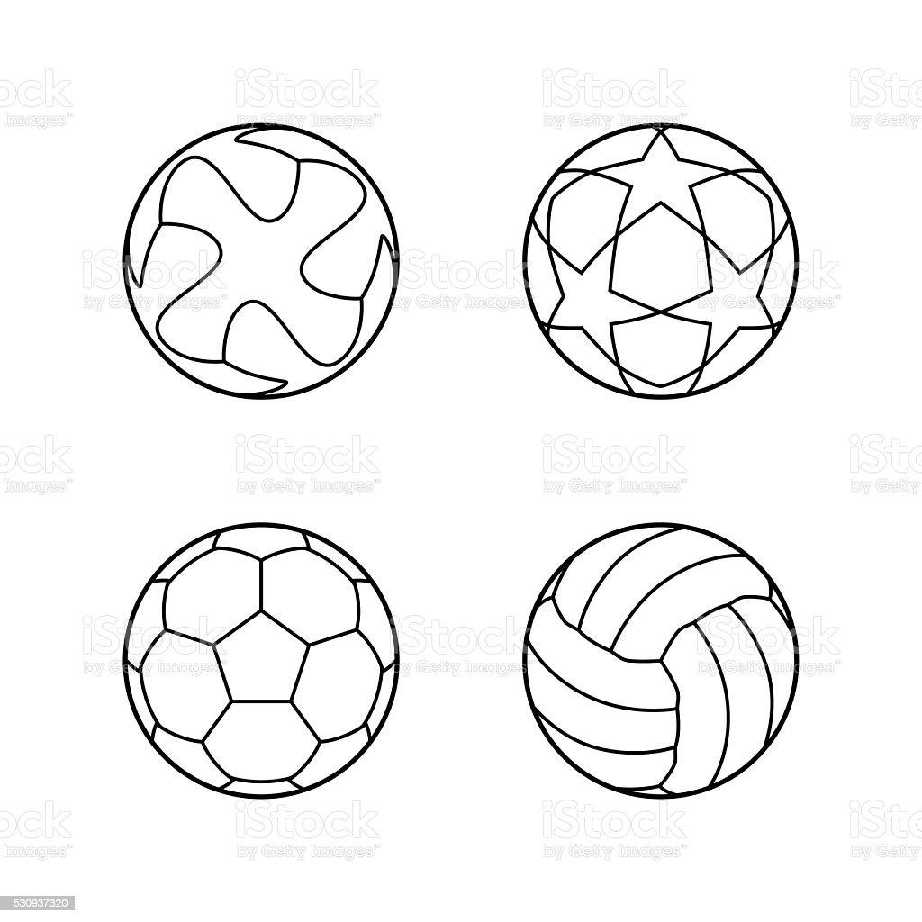 Football, Soccer ball vector icons vector art illustration