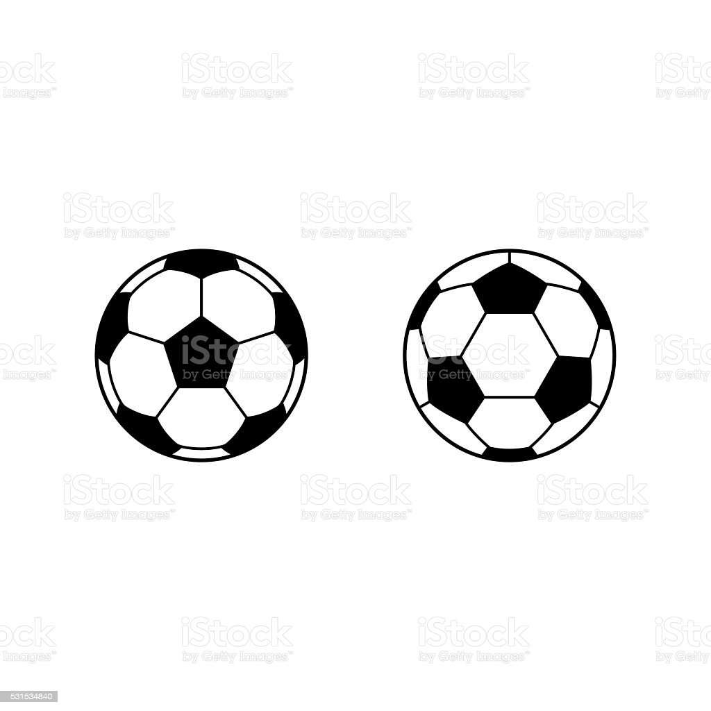 Football, Soccer ball vector icons vector art illustration