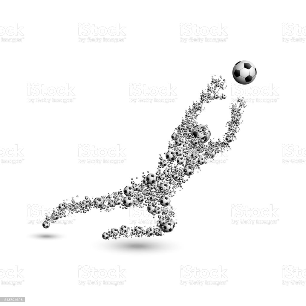 football soccer goalkeeper vector art illustration