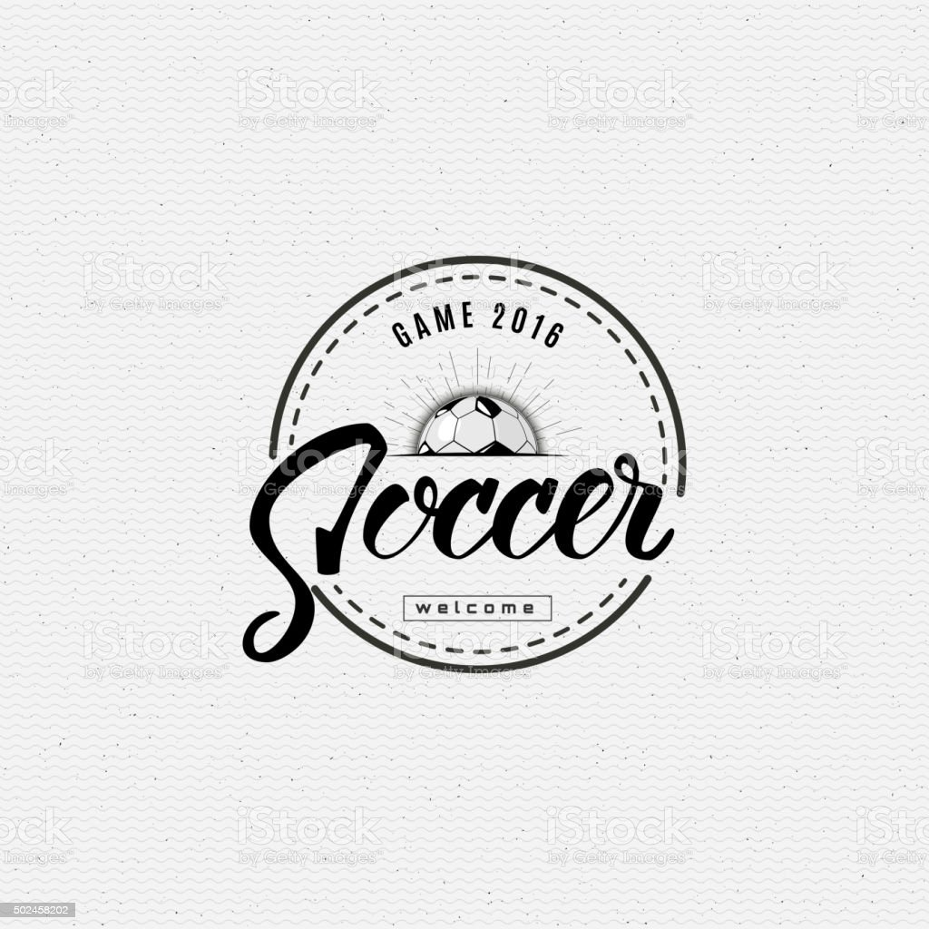 Football, Soccer Hand lettering badges and labels for any use vector art illustration