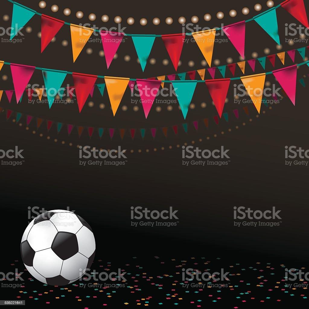 Football soccer party invitation background vector art illustration