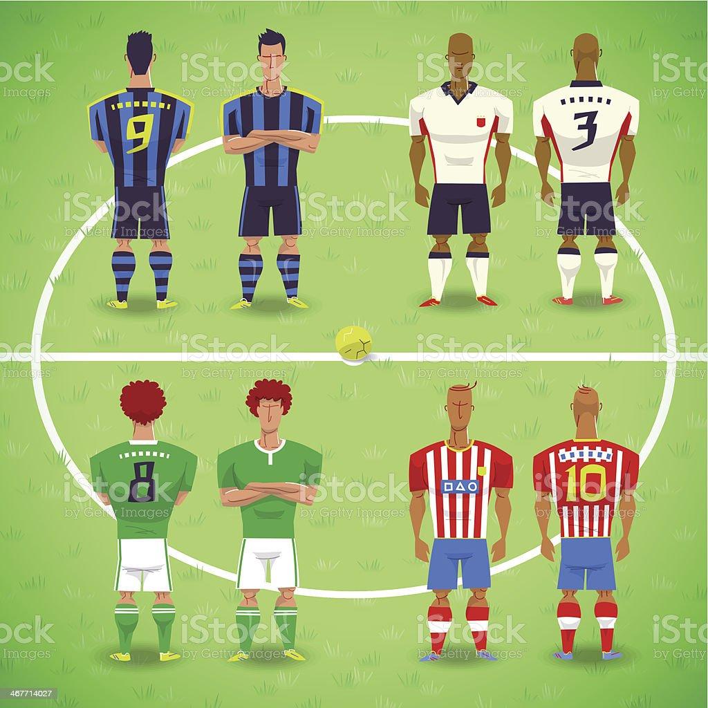 Football Soccer Players royalty-free stock vector art