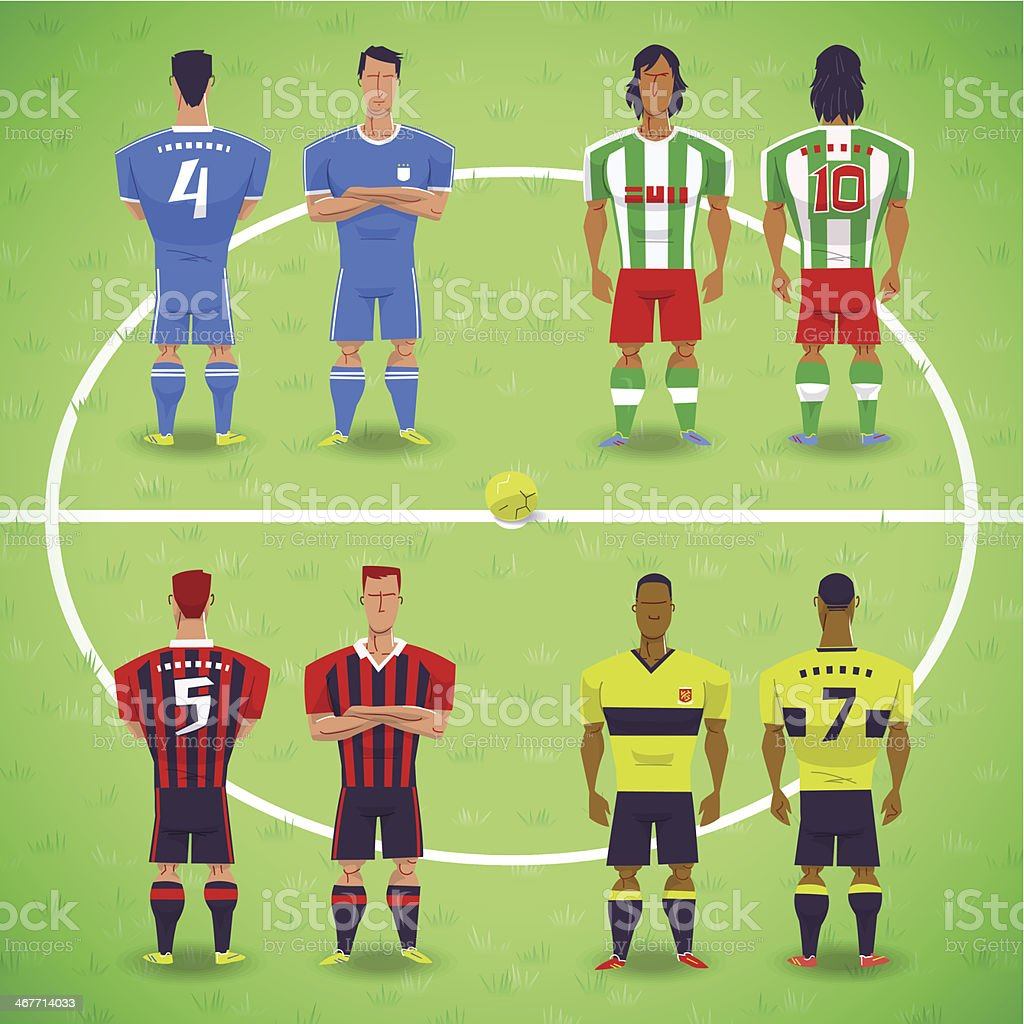 Football Soccer Players vector art illustration