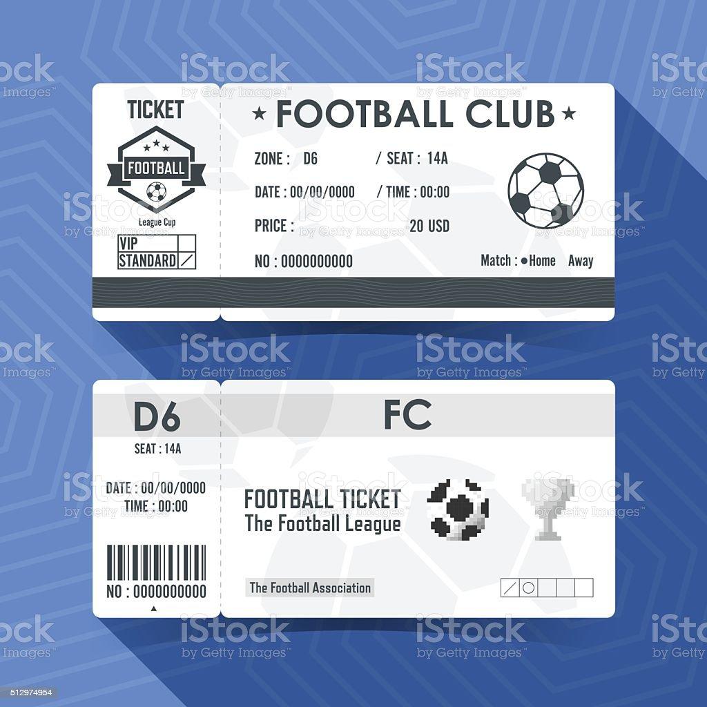 Football, Soccer Ticket Design. Vector illustration. vector art illustration