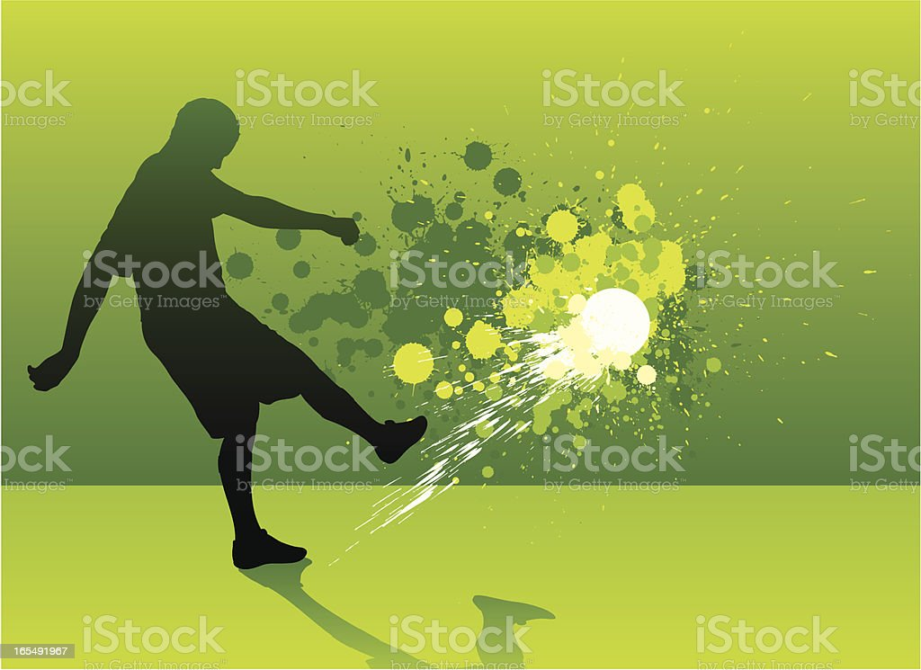 Football splatter royalty-free stock vector art