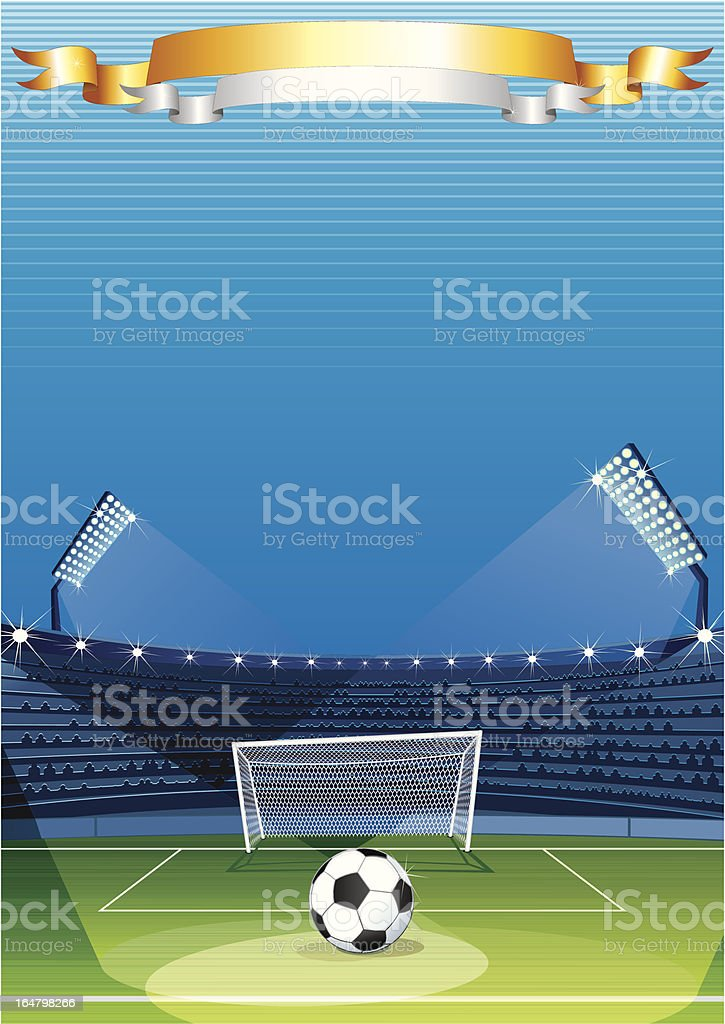 Football Stadium. Vector Background royalty-free stock vector art
