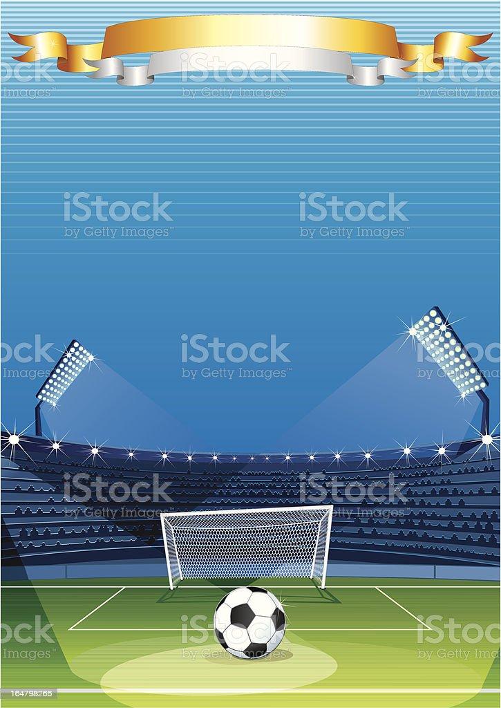 Football Stadium. Vector Background vector art illustration