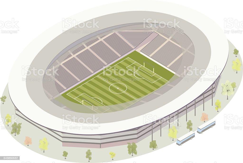 Football (Soccer) Stadium vector art illustration