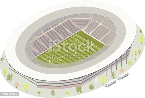 Isometric football soccer stadium