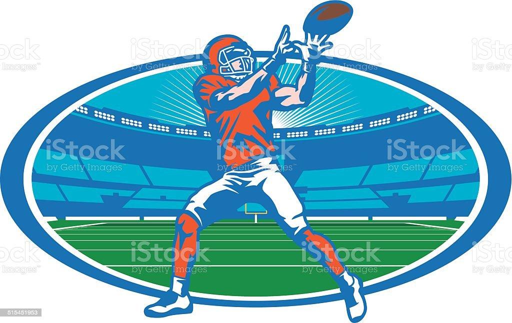 Football Stadium Wide Receiver vector art illustration