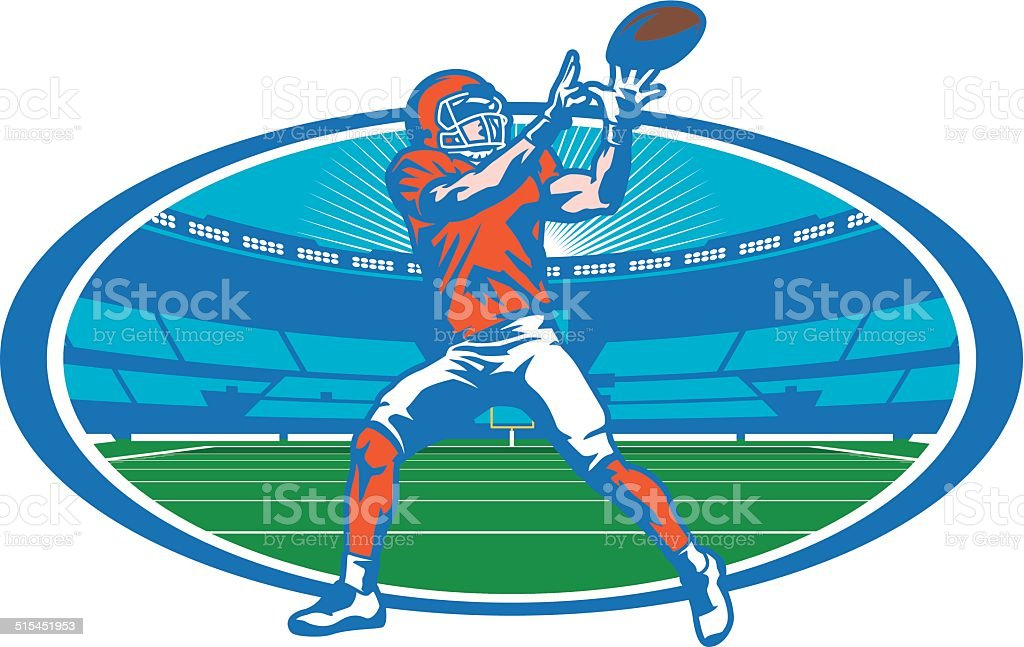 Football Stadium Wide Receiver vector art illustration