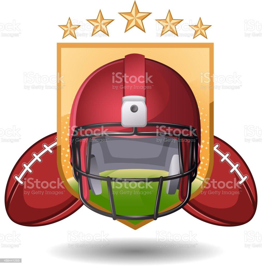 Football stars vector art illustration
