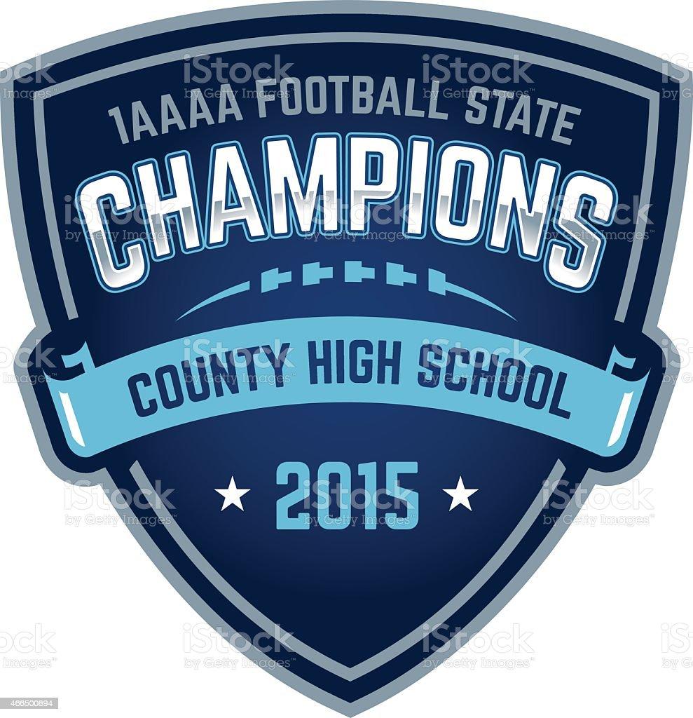 Football State Championship logo vector art illustration