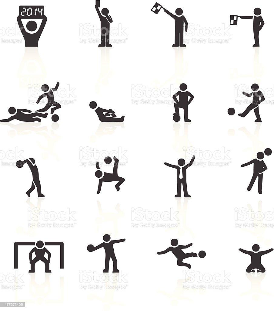 Football Stickman Icons vector art illustration