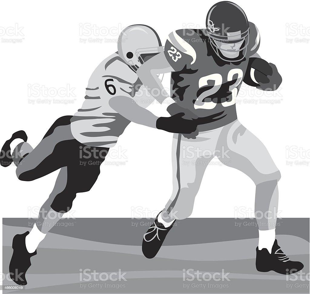 Football Tackle vector art illustration
