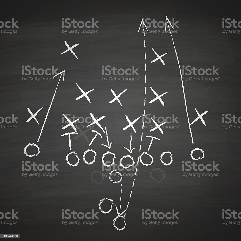 football tactic on board vector art illustration