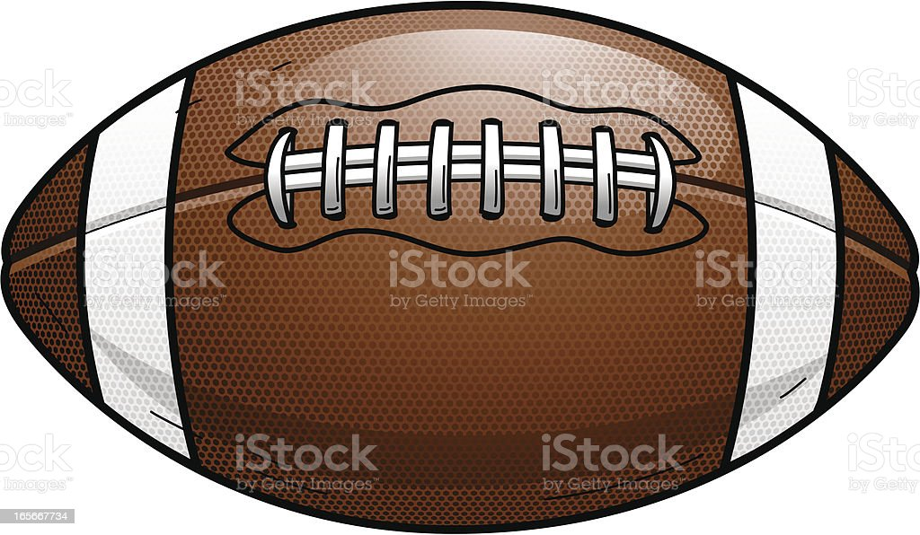 Football Textured royalty-free stock vector art