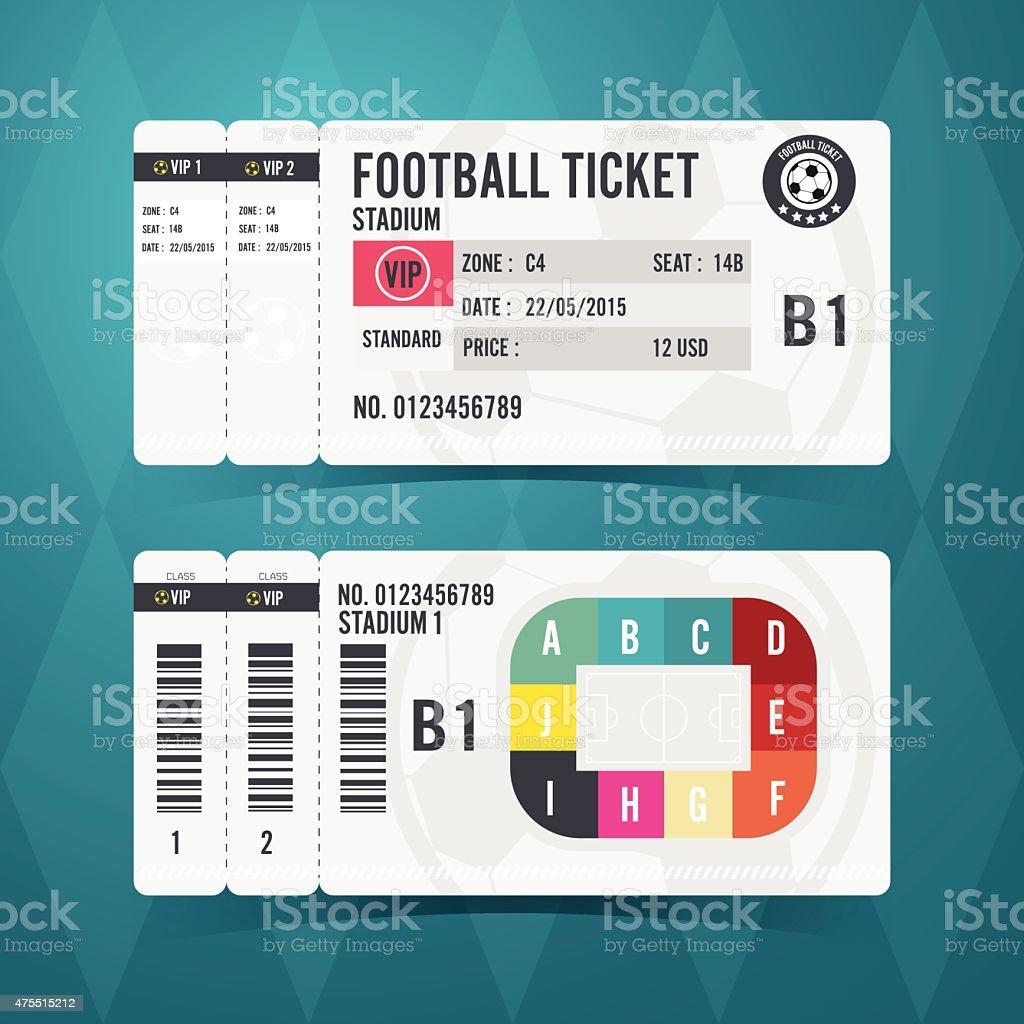 Football ticket card modern design. Vector illustration vector art illustration