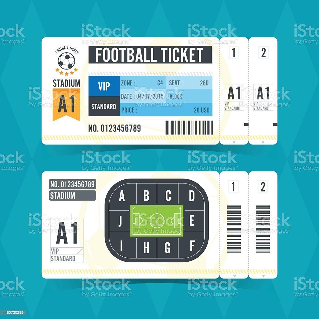 Football Ticket Modern Design. Vector illustration vector art illustration