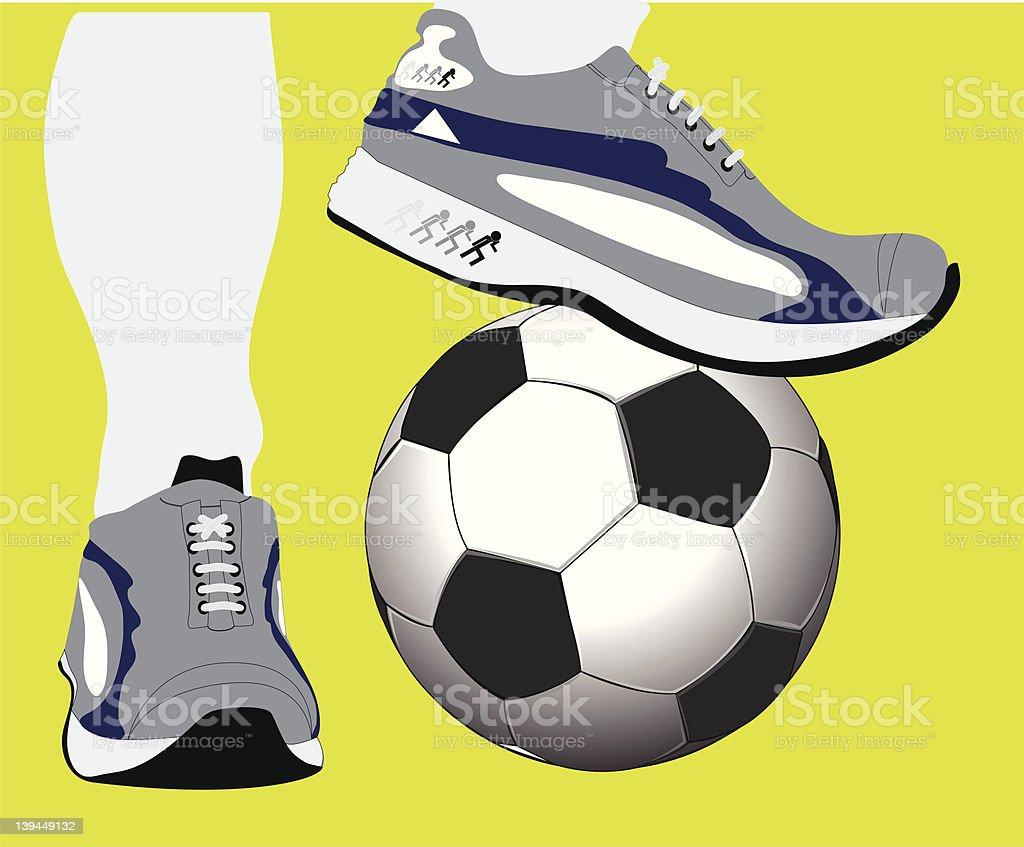 Football training royalty-free stock photo