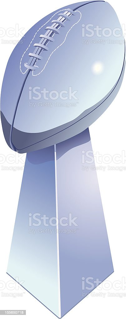 Football Trophy royalty-free stock vector art