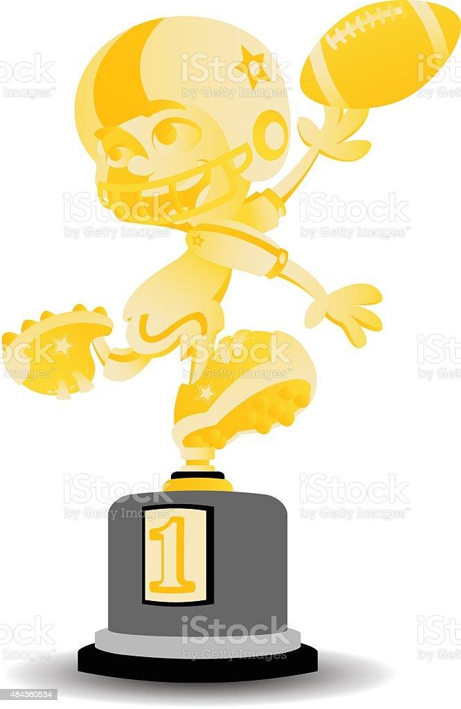 football trophy vector art illustration