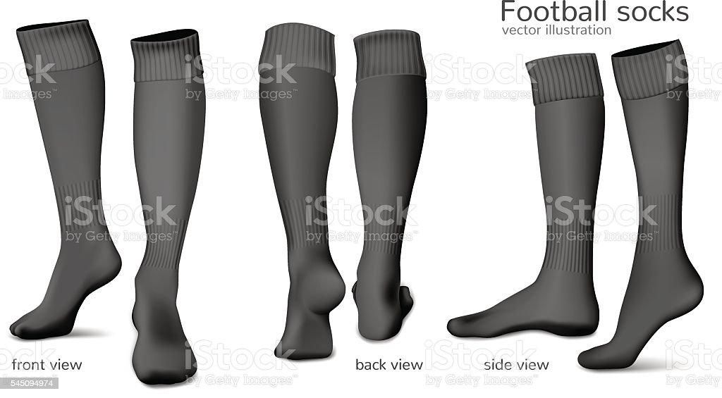 Football vector socks. vector art illustration