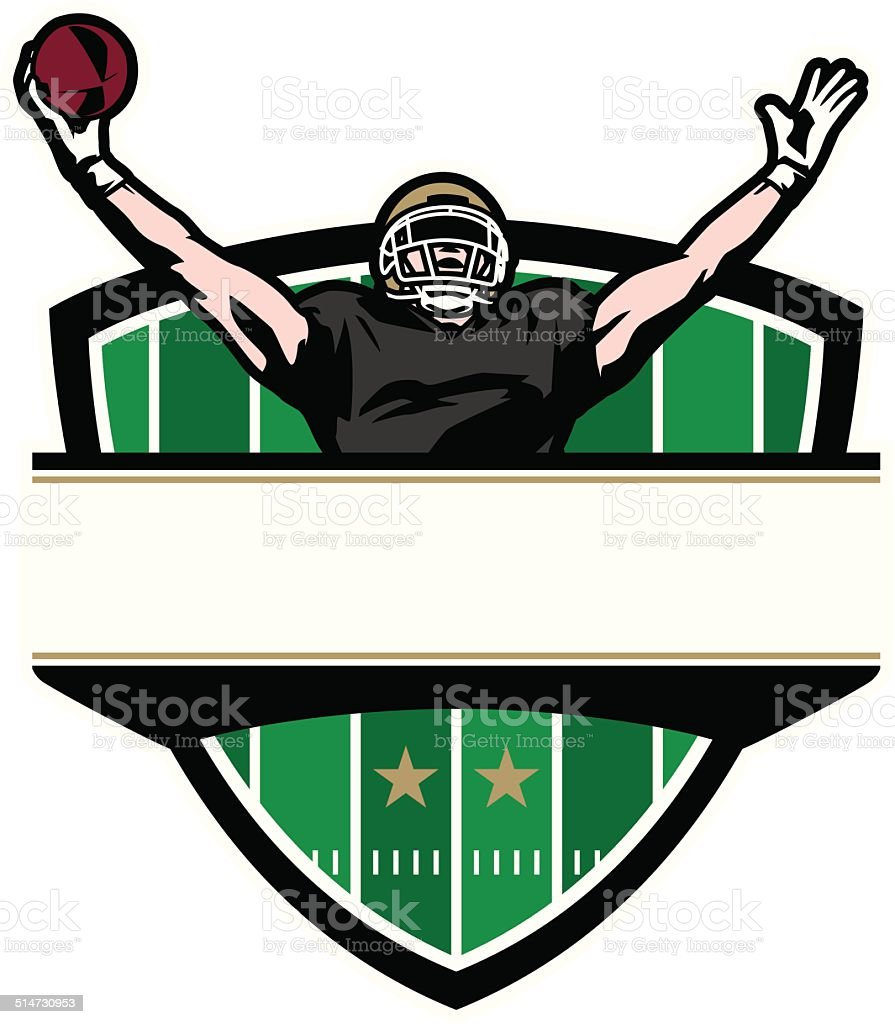 Football Victory Crest vector art illustration