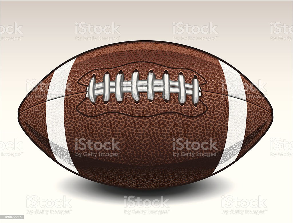 Football with Dimples royalty-free stock vector art