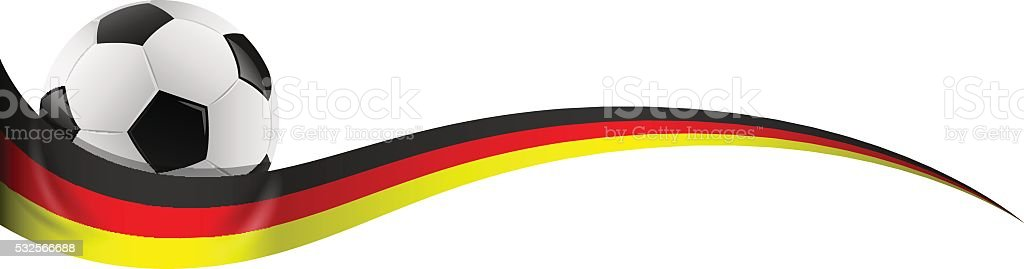 football with germany flag vector art illustration