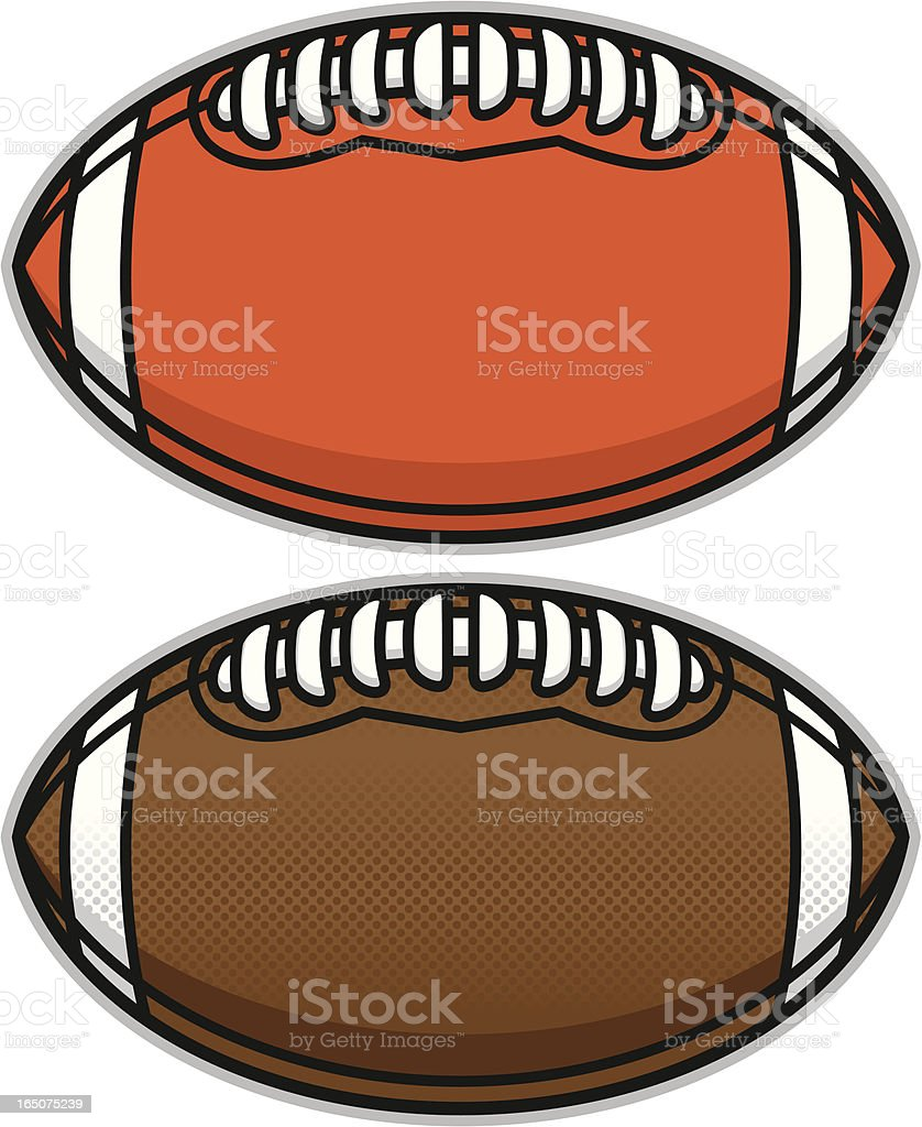 Football with wide open writing area vector art illustration