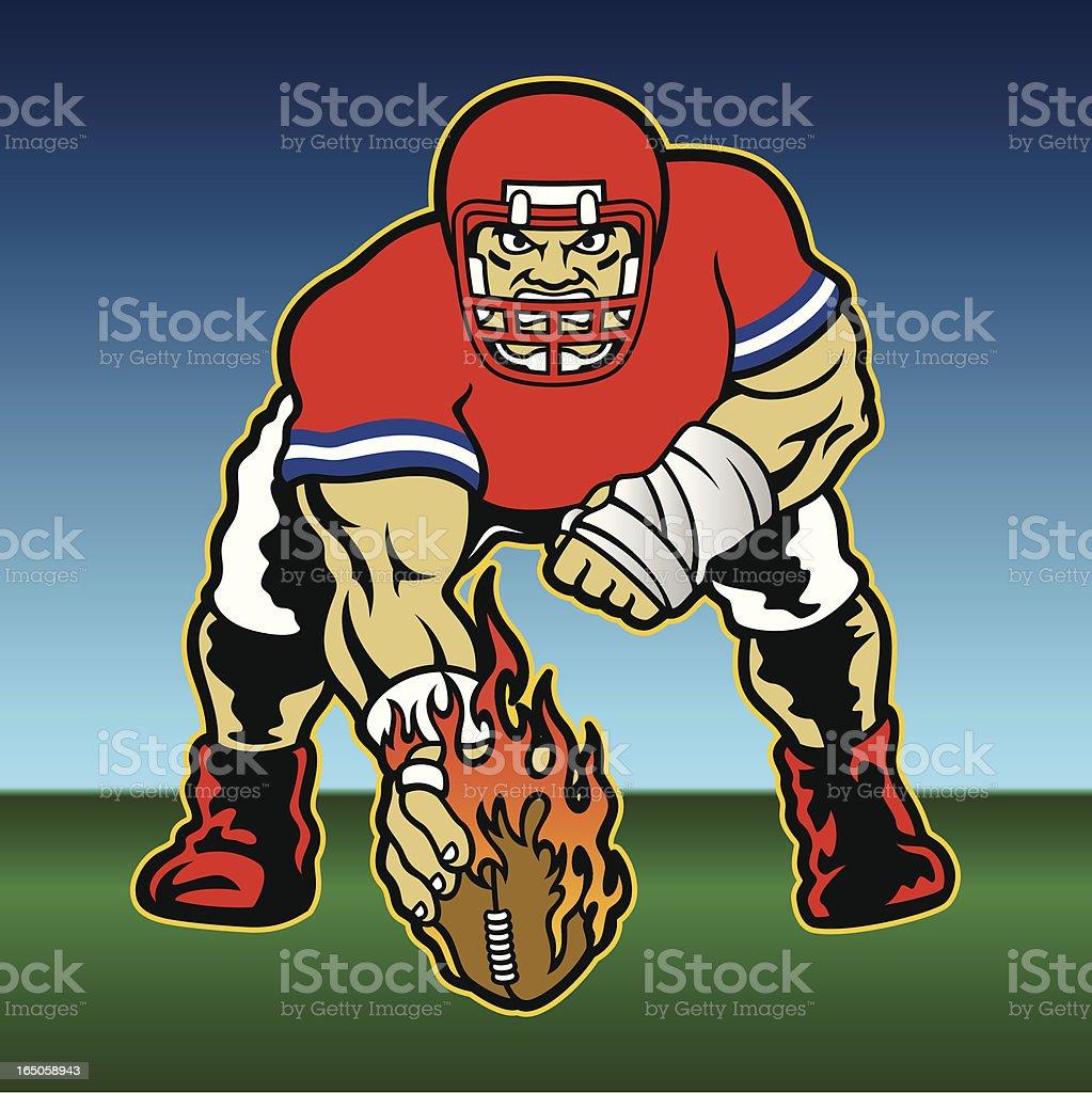 football_player_center vector art illustration