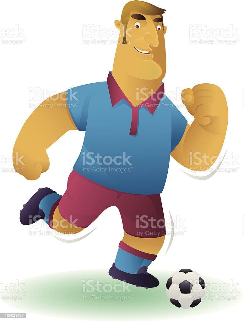 footballer royalty-free stock vector art