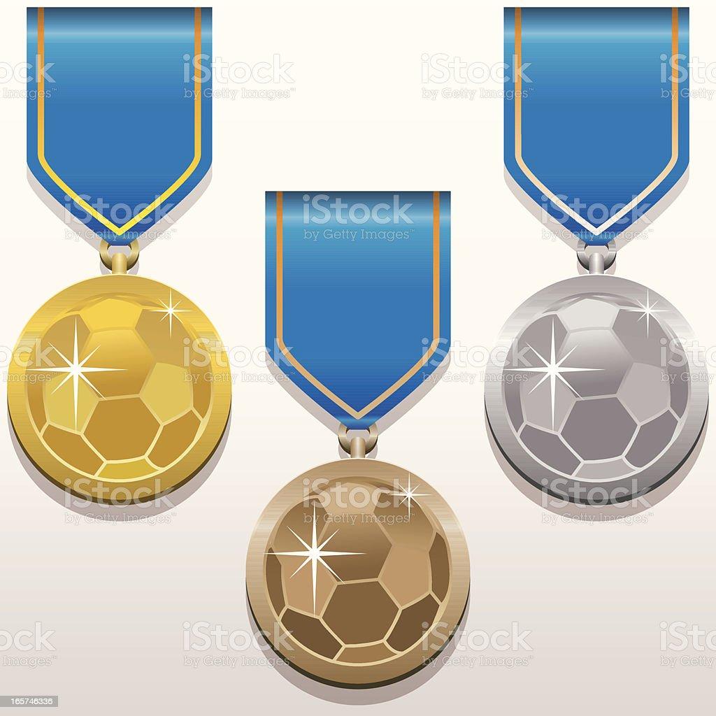 Football's Medals royalty-free stock vector art
