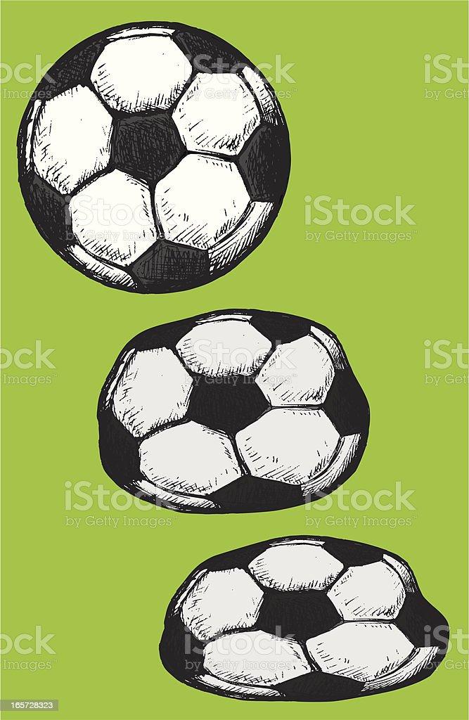 Footballs royalty-free stock vector art