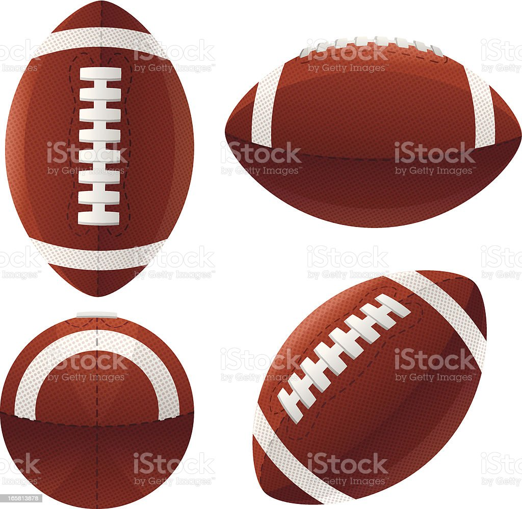 Footballs vector art illustration