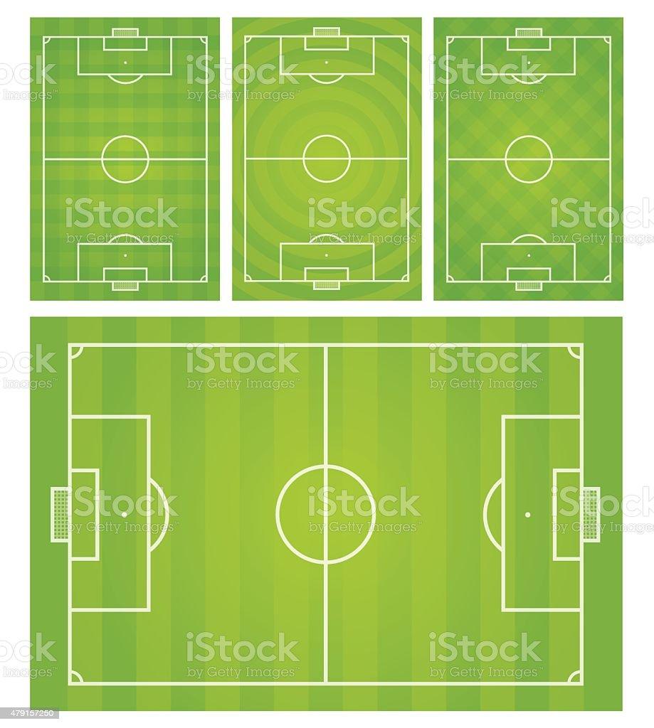 Football,Soccer field vector illustration vector art illustration
