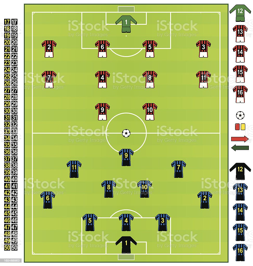 Football/soccer strips ITA royalty-free stock vector art