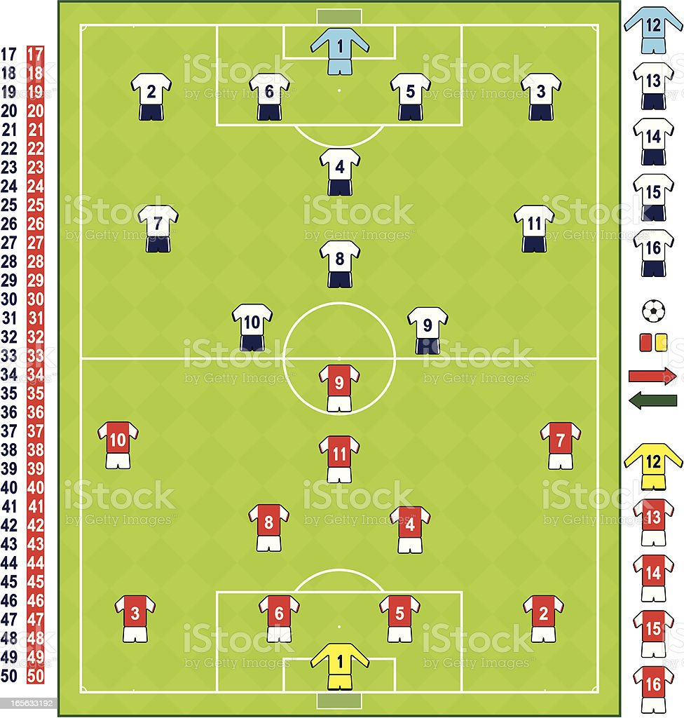 Football/soccer strips LON vector art illustration