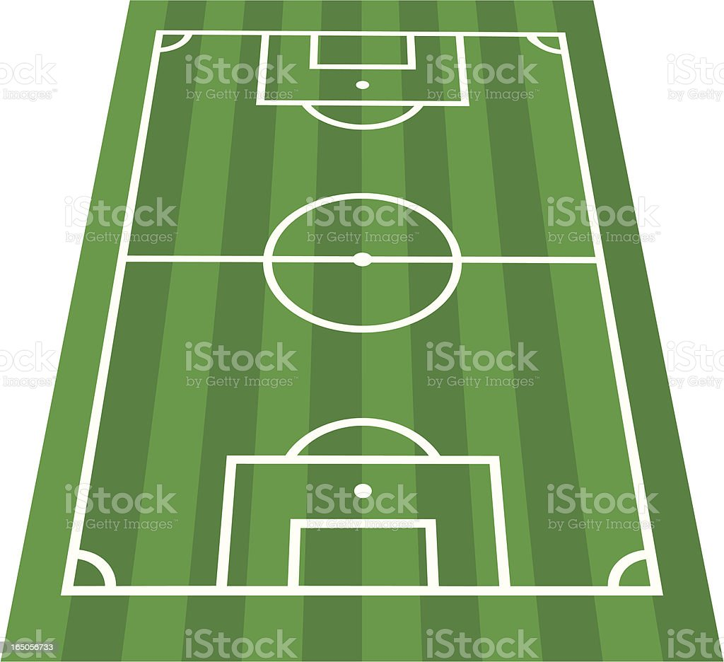 Footie Pitch Perspective View vector art illustration
