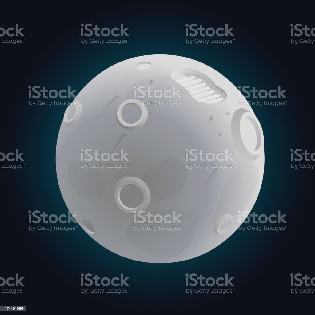 footprint on the moon royalty-free stock vector art