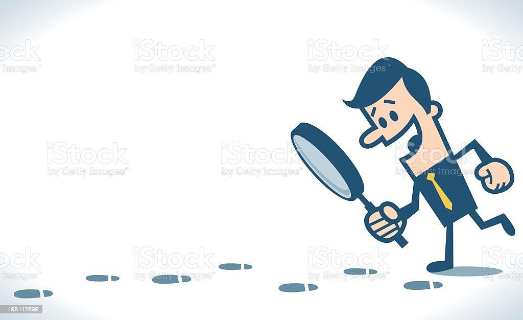 Footprint vector art illustration
