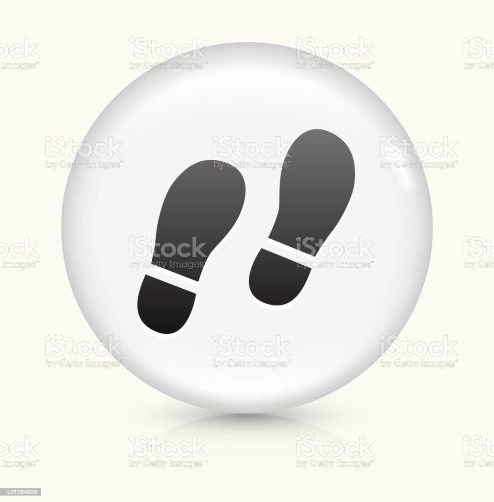 Footprints icon on white round vector button vector art illustration